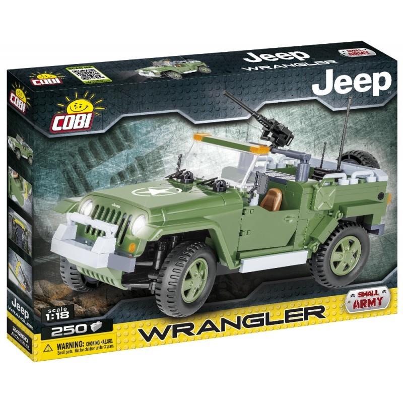 COBI - 24260 Small Army Jeep Wrangler vojenský