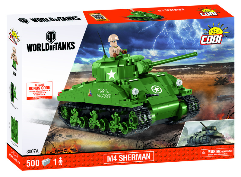 COBI - 3007 World of Tanks M4 Sherman