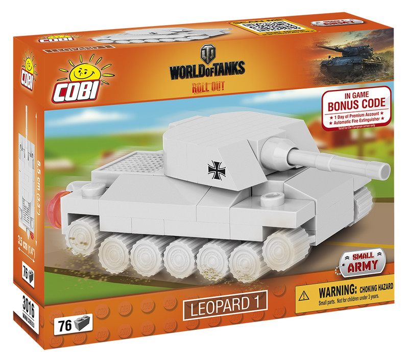 COBI - 3016 World of Tanks Nano Tank Leopard 1