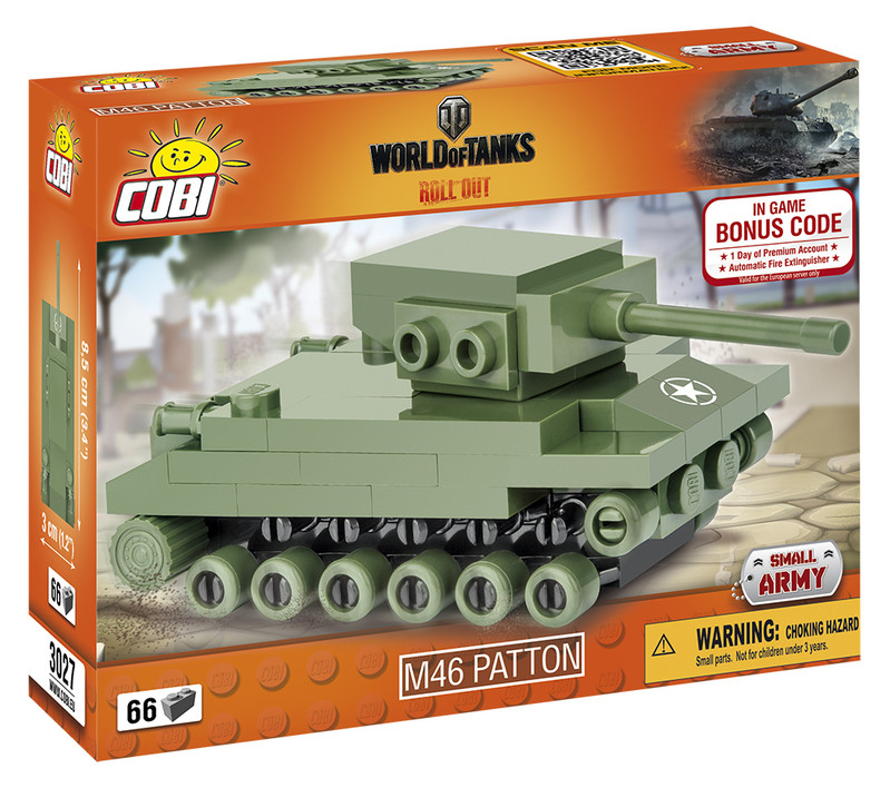 COBI - 3027 World of Tanks Nano Tank M46 Patton