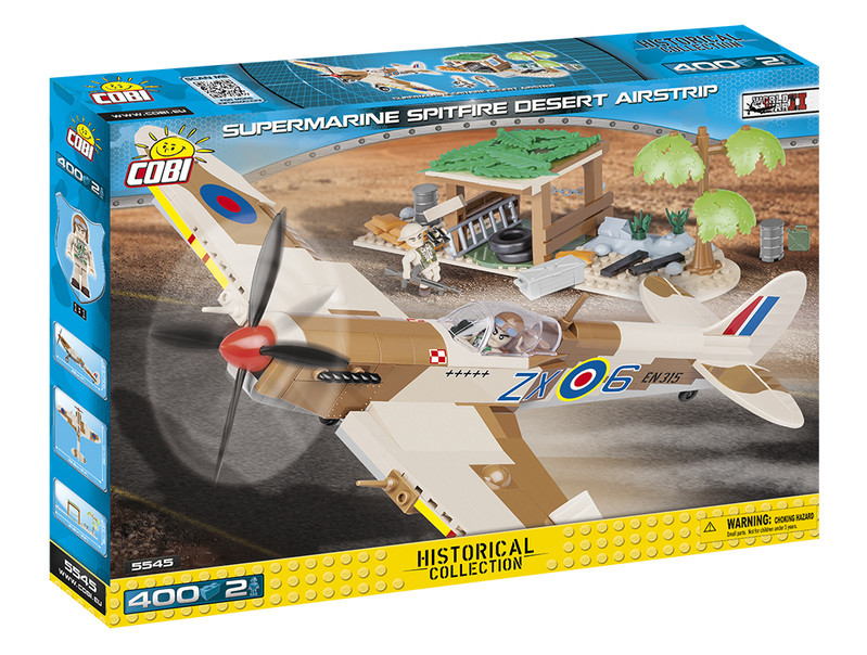 COBI - 5545 Small Army II WW Supermarine Spitfire Pouštní letiště
