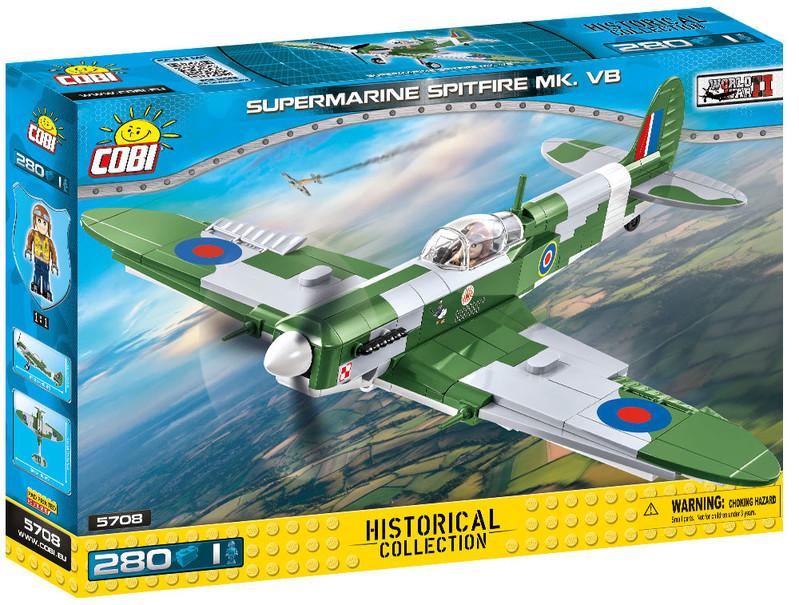 COBI - 5708 II WW Stíhací liatadlo Supermarine Spitfire Mk VB