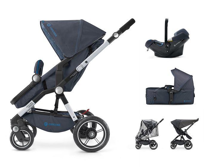 CONCORD - Mobility Set Camino Air.Safe+Scout Deep Water Blue Concord 2017