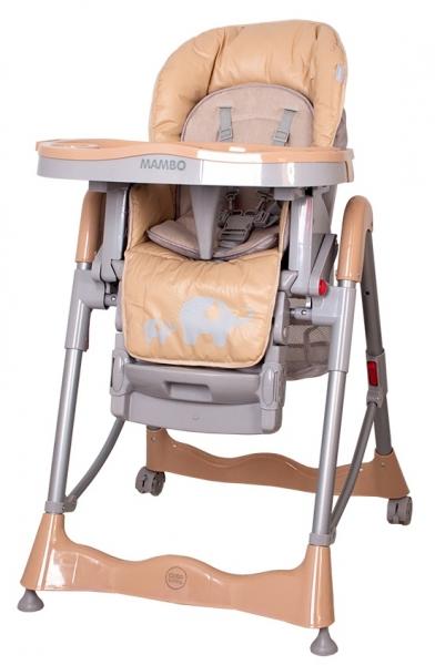 COTO BABY - Jídelní židlička Mambo 2019 Beige - Sloníci
