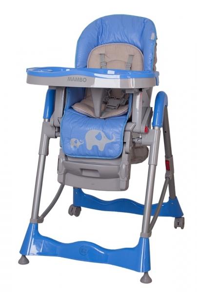 COTO BABY - Jídelní židlička Mambo 2019 Blue - Sloníci