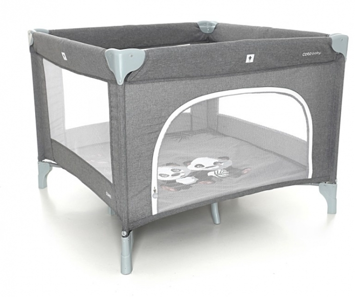 COTO BABY - Skládací ohrádka Conti - tmavě šedá/melange - PANDA