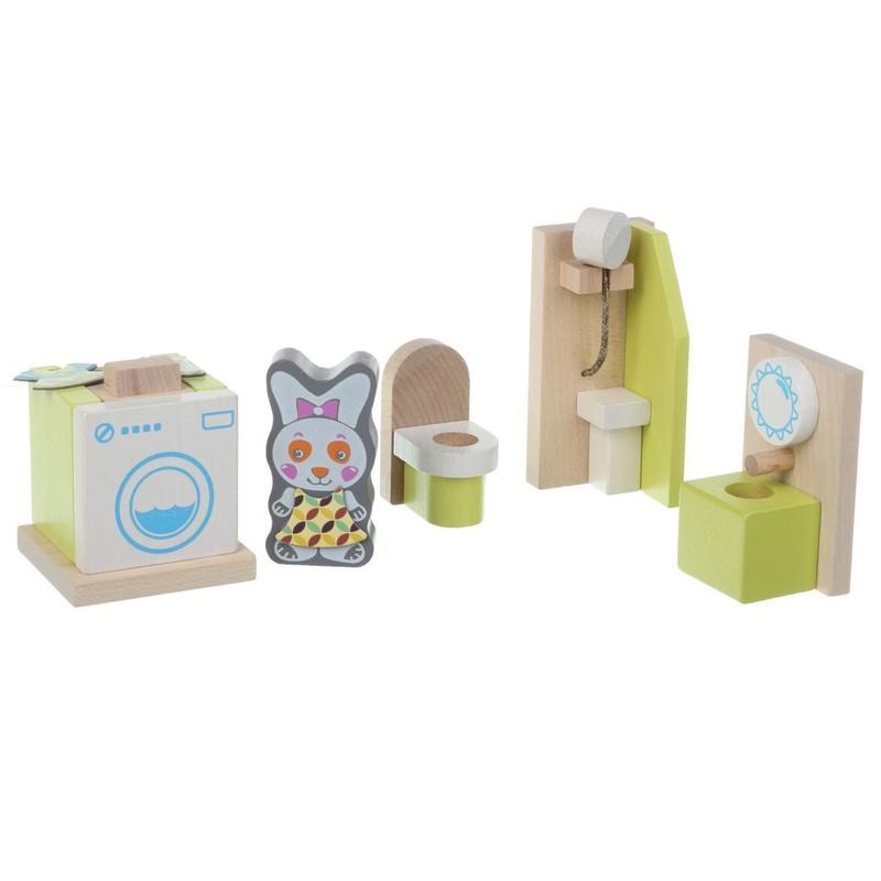 CUBIKA - Cubik 12633 Koupelna - dřevěný nábytek pro panenky
