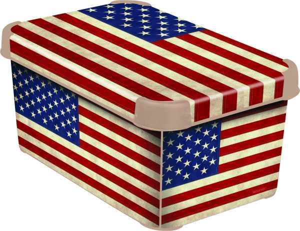 CURVER - Dekorativní úložný box - S - AMERICAN FLAG