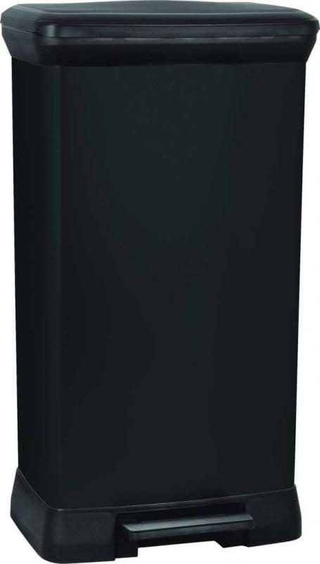 CURVER - Odpadkový koš Decobin s pedálem 50 l - černý