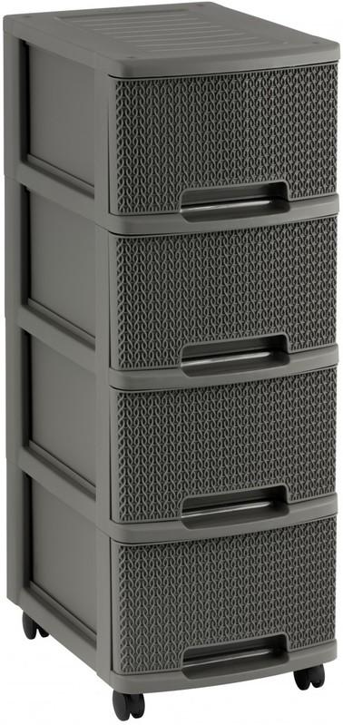 CURVER - Plastová skříňka se zásuvkami 4 x 10 l
