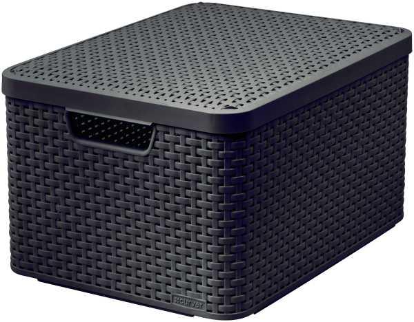 CURVER - Úložný box s víkem STYLE 2 L, hnědý