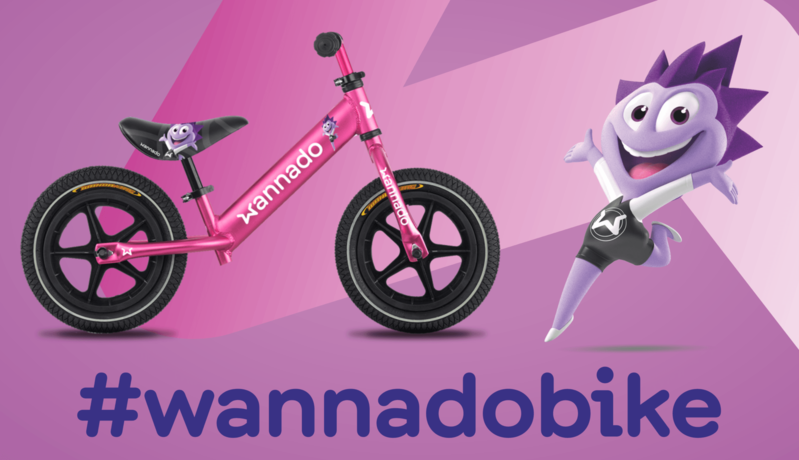 DEMA - Odrážedlo Wannado Meerfun pink