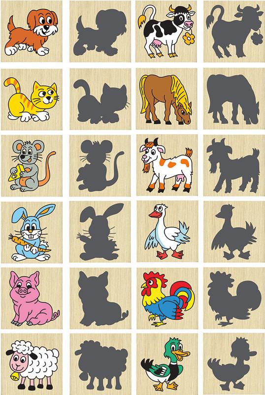 DETOA - Pexeso zvířátka a jejich stíny