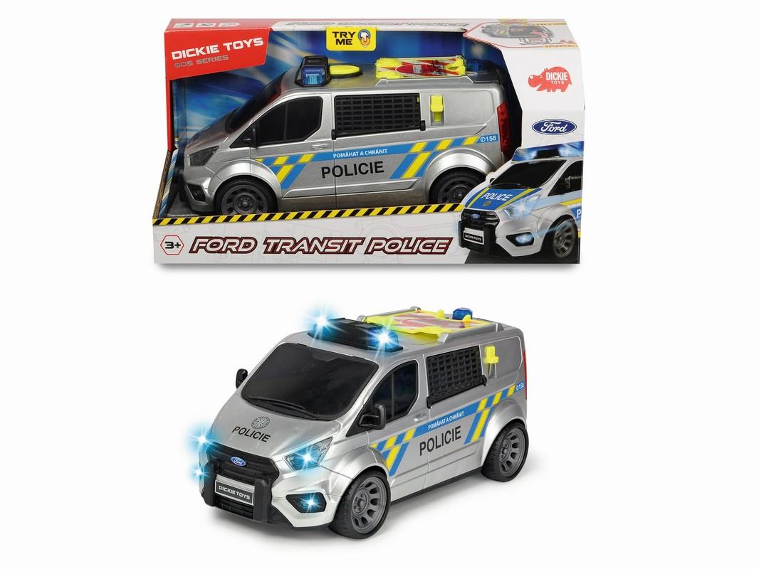 DICKIE - Policejní auto Ford Transit, česká verze