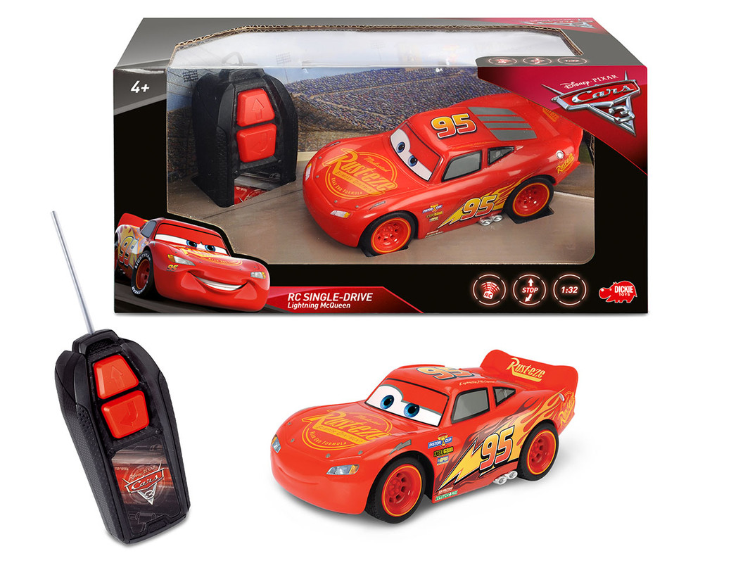 DICKIE - Rc Cars 3 Blesk Mcqueen 1:32,1Kan
