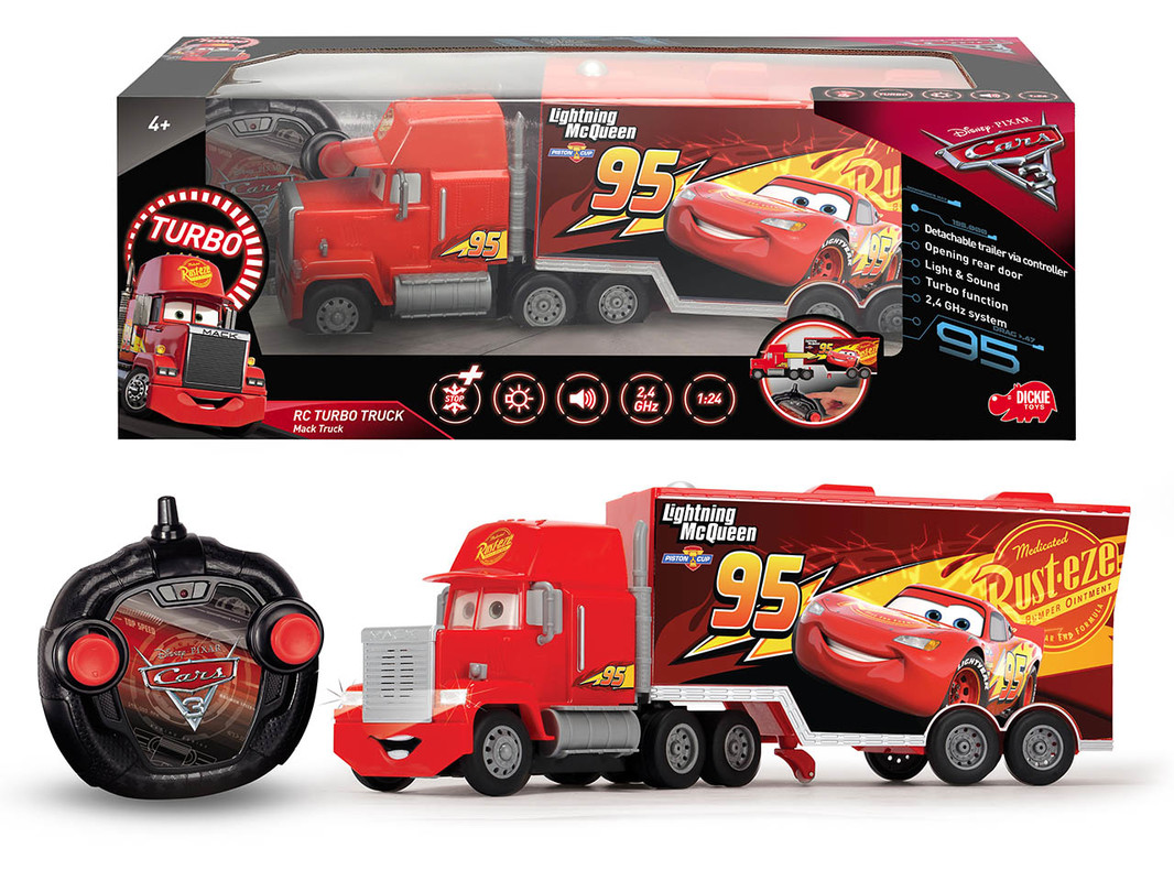 DICKIE - Rc Cars 3 Turbo Mack Truck 46 Cm, 3Kan