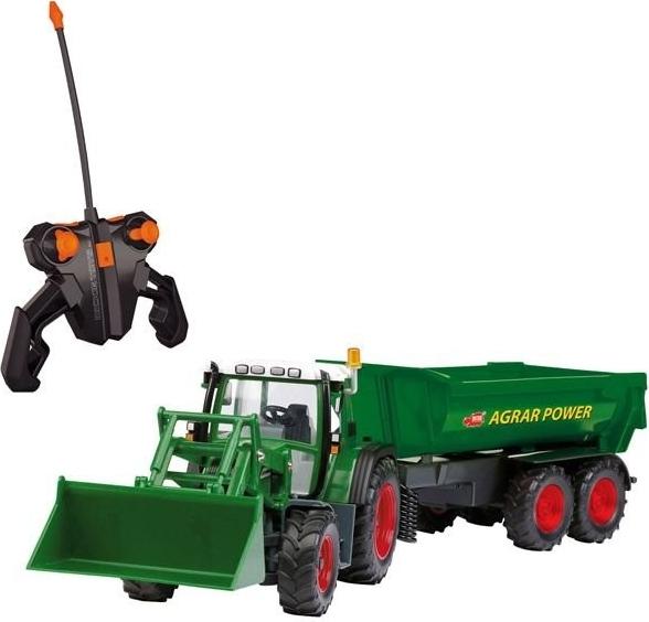 DICKIE TOYS - Traktor na dálkové ovládání s lžící a vozíkem