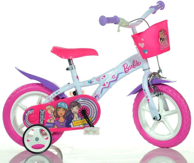 """DINO BIKES - Dětské kolo - 12 """"Dino 612GLBA s košíkem s licencí Barbie"""
