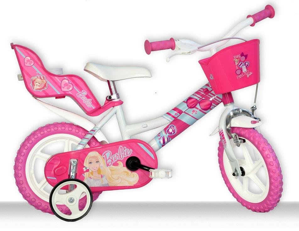 DINO BIKES - Dětské kolo 126RLBAB se sedačkou pro panenku a košíkem s licencí Barbie - 12