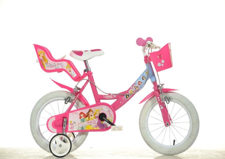 DINO BIKES - Dětské kolo 144RPSS Princess se sedačkou pro panenku a košíkem - 14