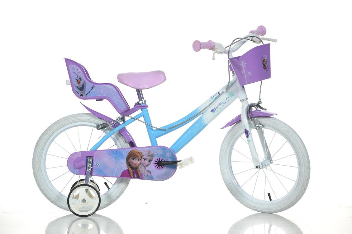 DINO BIKES - Dětské kolo 146RFZ Frozen se sedačkou pro panenku a košíkem - 14