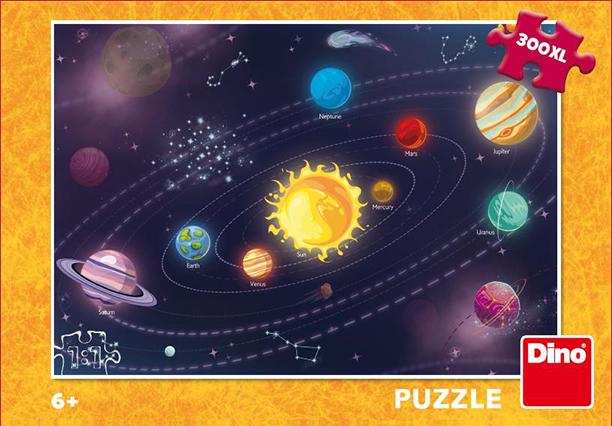 DINO - Dětská Sluneční Soustava 300 Xl Puzzle Nové