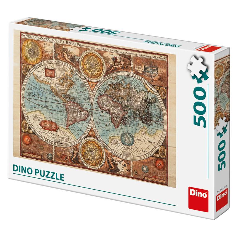 DINO - Mapa světa z roku 1626, 500 dílků