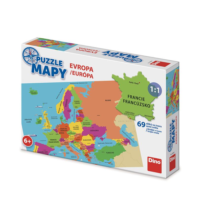 DINO - Mapy Evropa 58 dílků