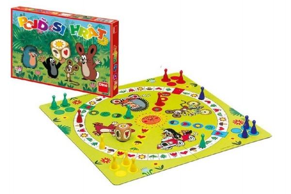 DINO - Pojď si hrát Krtek Člověče, nezlob se dětská společenská hra v krabici 33x23x3,5cm