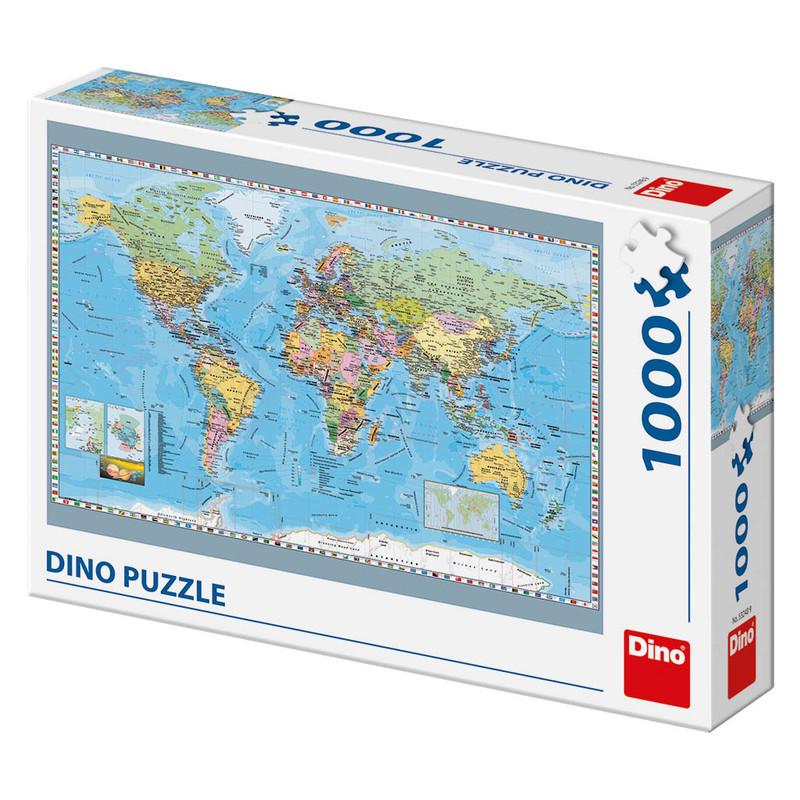 DINO - Politická mapa světa 1000 dílků