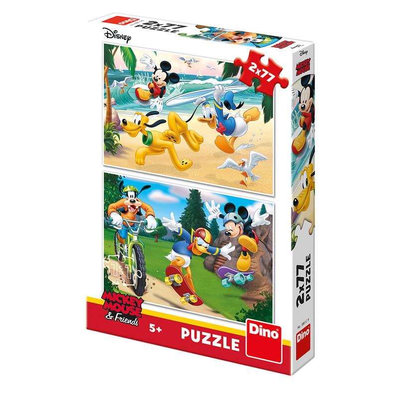 DINO - Walt Disney Mickey sportuje 2x77 dílků