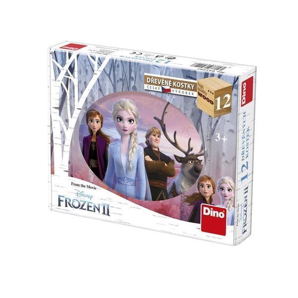 DINOTOYS - Dřevěné kostky Frozen II 12 ks