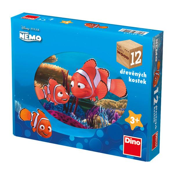 DINOTOYS - Dřevěné kostky Nemo 12 ks