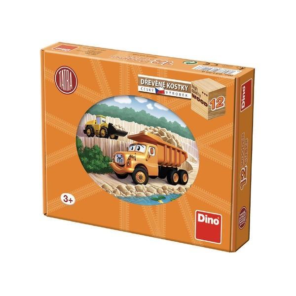 DINOTOYS - Dřevěné kostky Tatra 12 ks
