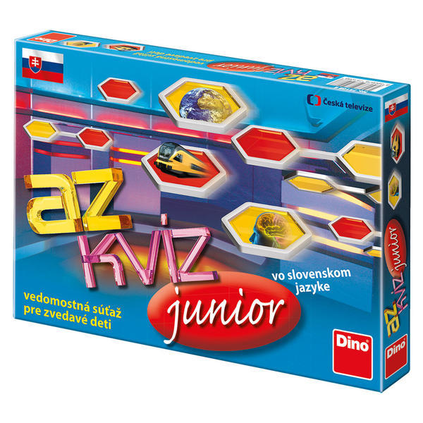 DINOTOYS - Společenská hra AZ Kvíz Junior - Kč