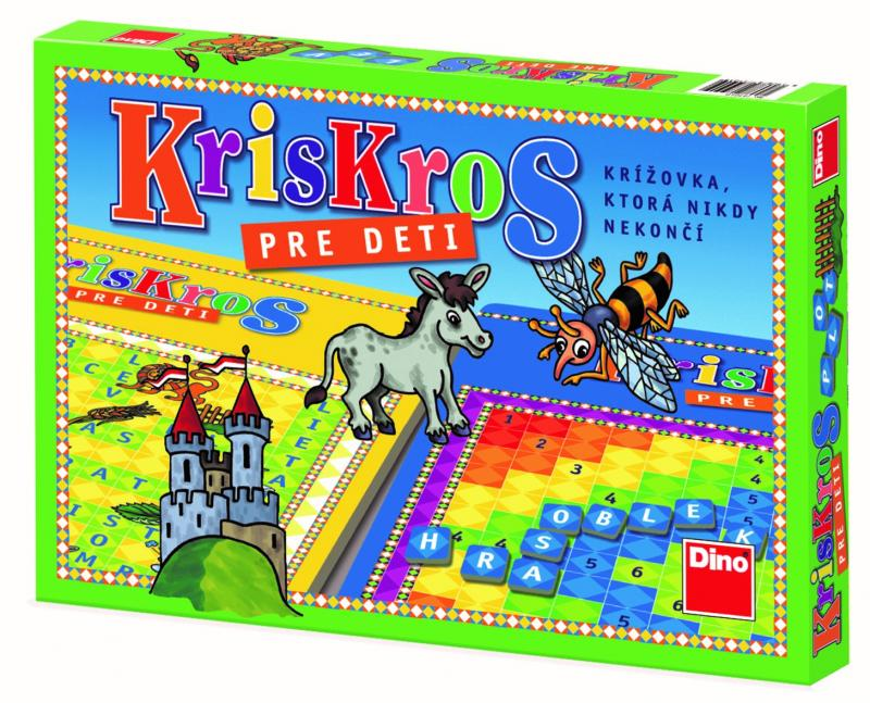 DINOTOYS - Společenská hra KrisKros pro děti