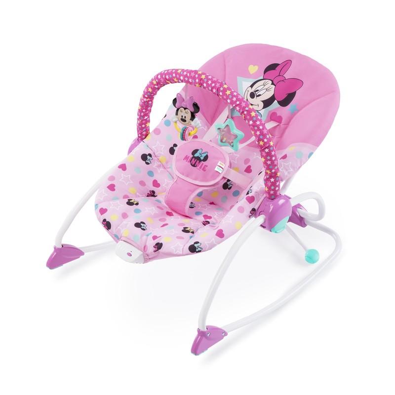 DISNEY BABY - Húpatko vibrující Minnie Mouse Stars & Smiles Baby 0m +, do 18kg, 2019