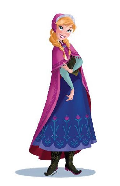 DISNEY - Dekorace na zeď - Frozen - Anna