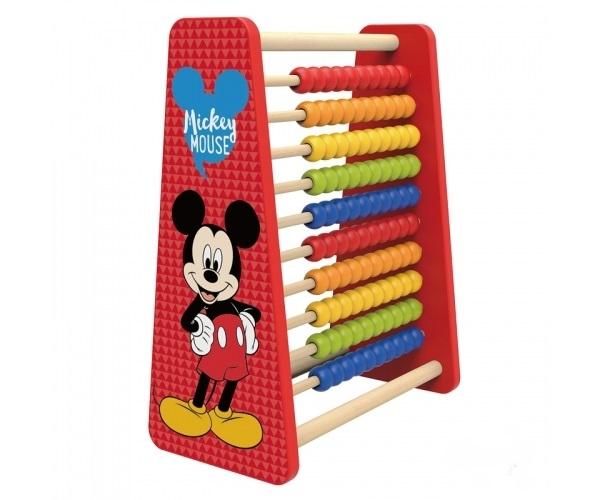 DISNEY - Krásné dřevěné dětské Disney počítadlo Mickey, 27 x 14 x 32 cm