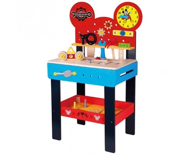 DISNEY - Mickeyho velký dřevěný stůl s nářadím Disney, 45 x 30 x 80 cm