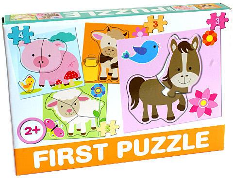 DOHÁNY TOYS - Puzzle pro nejmenší 4v1