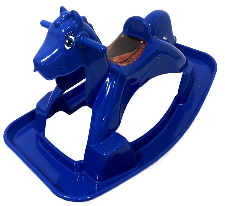 DOLONI - Houpací koník koník se zvuky modrý