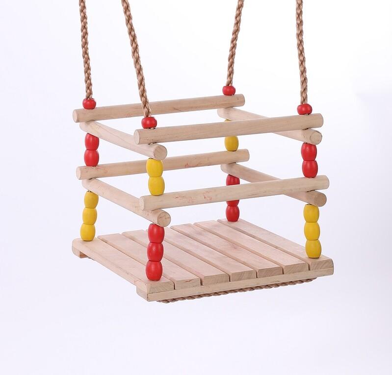 DVĚDĚTI - Dětská dřevěná houpačka