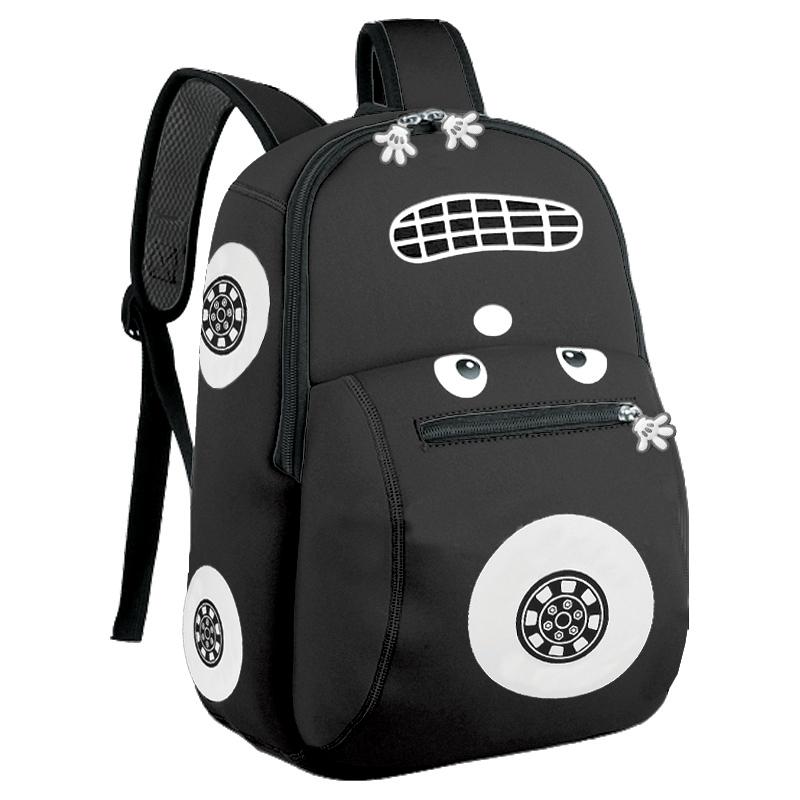 EASY - Batoh neoprenový - dětský autíčko černé