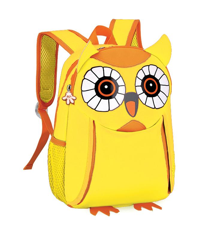 EASY - Batoh neoprenový - dětský sovička žlutá