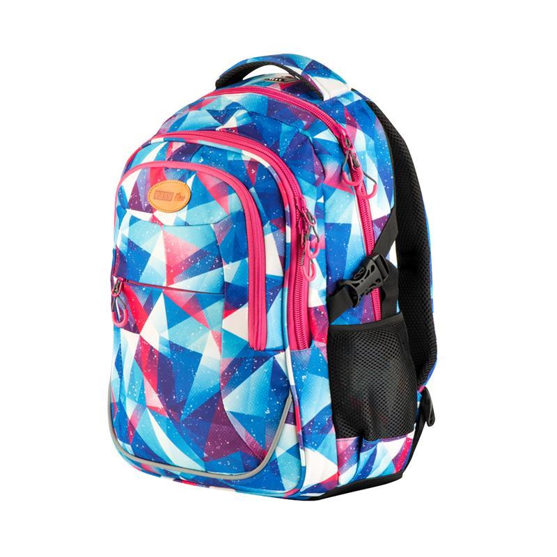 0635961e52e EASY - Batoh školní - sportovní - trojúhelníky - růžové zipy ...