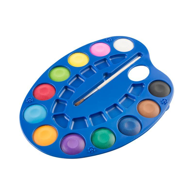 EASY - Vodové barvy - malířská paleta 12 barev, průměr 3 cm