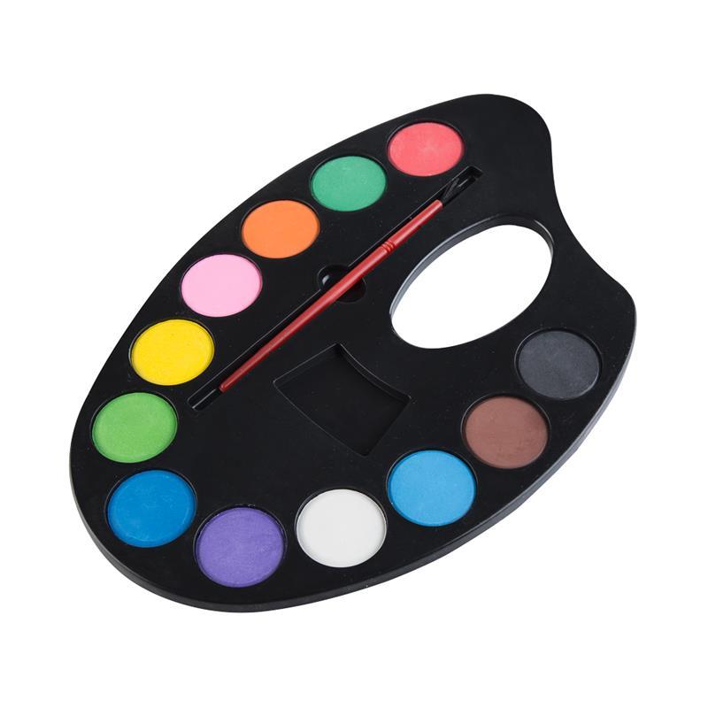 EASY - Vodové barvy - malířská paleta 12 barev