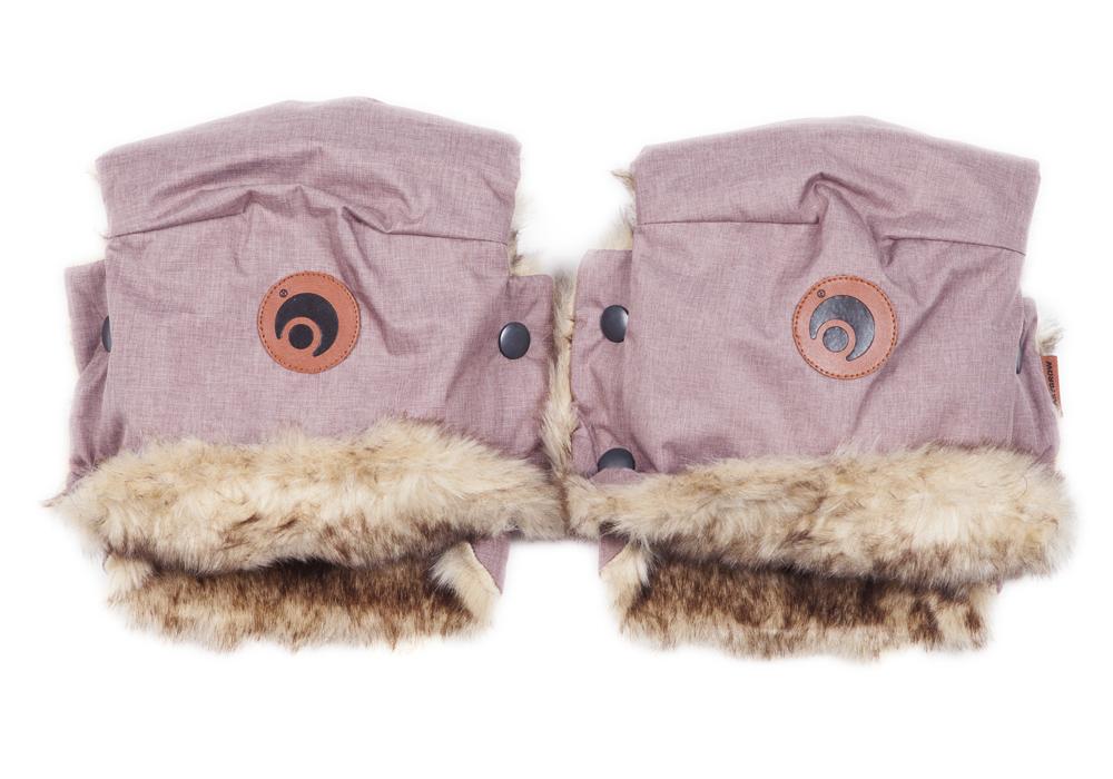 EASYGROW - Rukavice na kočárek BASIC Pink Melange
