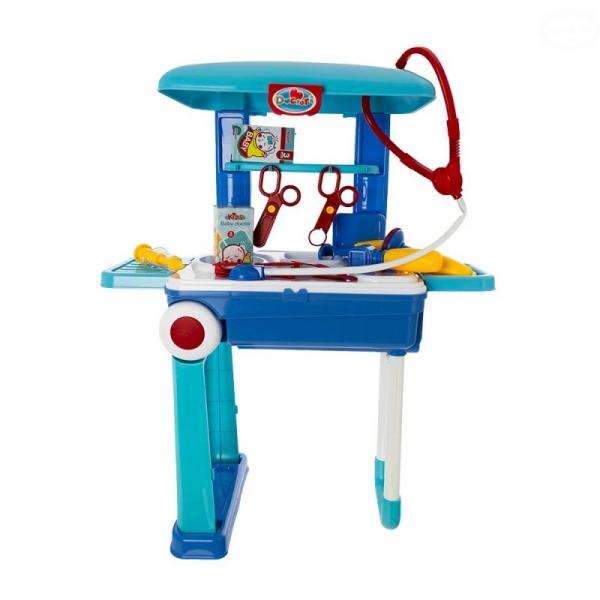 EURO BABY - Dětský lékařský set v pojízdném kufříku